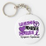 Peace Love Cure Sjogren's Syndrome Basic Round Button Keychain