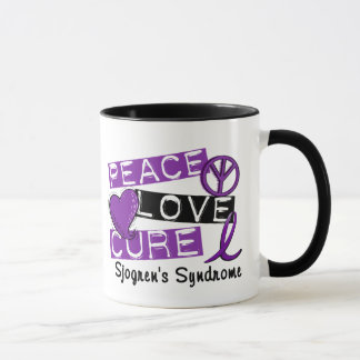 Peace Love Cure Sjogren's Syndrome Mug