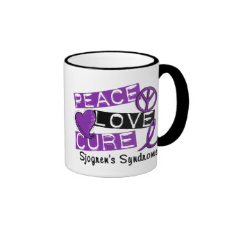 Peace Love Cure Sjogren's Syndrome Coffee Mug