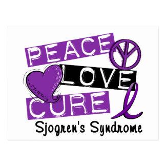Peace Love Cure Sjogren's Syndrome Postcard