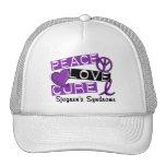 Peace Love Cure Sjogren's Syndrome Trucker Hat