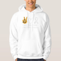 Peace Love Cure Skin Cancer Awareness Hoodie