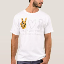 Peace Love Cure Skin Cancer Awareness T-Shirt