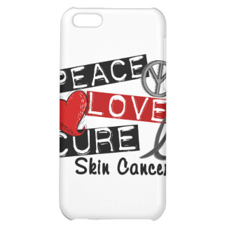 Peace Love Cure Skin Cancer iPhone 5C Covers