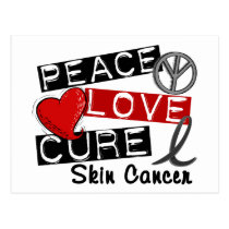 Peace Love Cure Skin Cancer Postcard