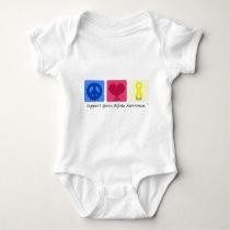 Peace Love Cure Spina Bifida Baby Bodysuit