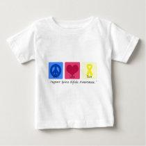 Peace Love Cure Spina Bifida Baby T-Shirt