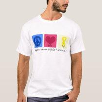 Peace Love Cure Spina Bifida T-Shirt