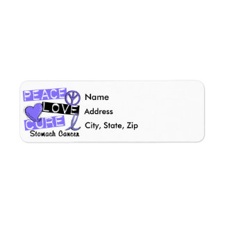 Peace Love Cure Stomach Cancer Label