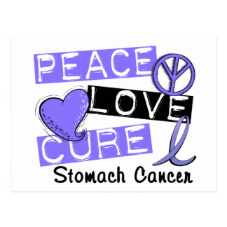 Peace Love Cure Stomach Cancer Postcard