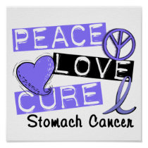 Peace Love Cure Stomach Cancer Poster