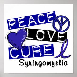 Peace Love Cure Syringomyelia Poster