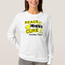 PEACE LOVE CURE Testicular Cancer T-Shirt