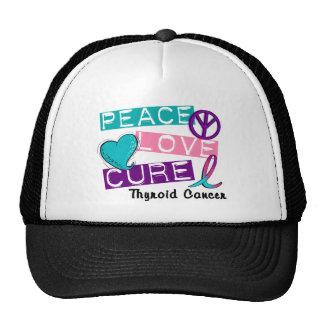 PEACE LOVE CURE Thyroid Cancer 1 Trucker Hat