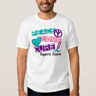 PEACE LOVE CURE Thyroid Cancer 1 T-Shirt