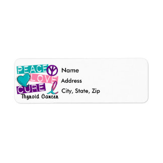 Peace Love Cure Thyroid Cancer Label