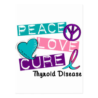 PEACE LOVE CURE Thyroid Disease Shirts & Gifts Postcard