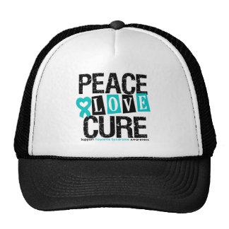 Peace Love Cure Tourette Syndrome Trucker Hat