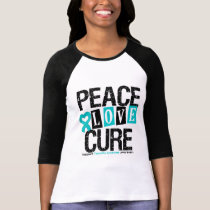 Peace Love Cure Tourette Syndrome T-Shirt