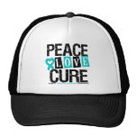 Peace Love Cure Tourette Syndrome Trucker Hat