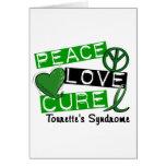 Peace Love Cure Tourette's Syndrome Cards