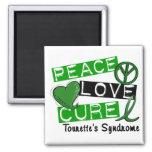 Peace Love Cure Tourette's Syndrome Fridge Magnets