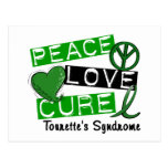 Peace Love Cure Tourette's Syndrome Post Cards
