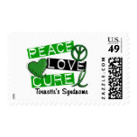 Peace Love Cure Tourette's Syndrome Postage Stamps