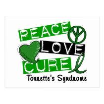 Peace Love Cure Tourette's Syndrome Postcard