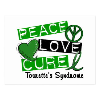 Peace Love Cure Tourette's Syndrome Postcard