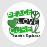 Peace Love Cure Tourette's Syndrome Stickers