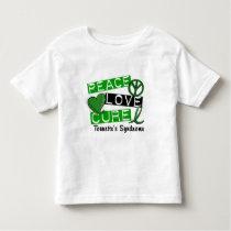 Peace Love Cure Tourette's Syndrome Toddler T-shirt