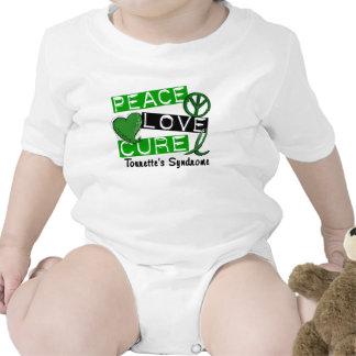Peace Love Cure Tourette's Syndrome Baby Bodysuits