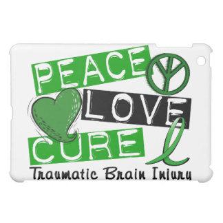 Peace Love Cure Traumatic Brain Injury TBI iPad Mini Case