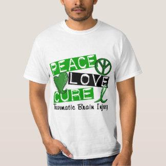 Peace Love Cure Traumatic Brain Injury TBI Shirt