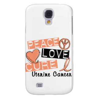 Peace Love Cure Uterine Cancer Galaxy S4 Covers