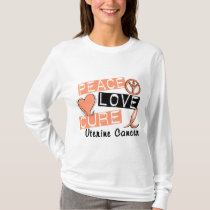 Peace Love Cure Uterine Cancer T-Shirt