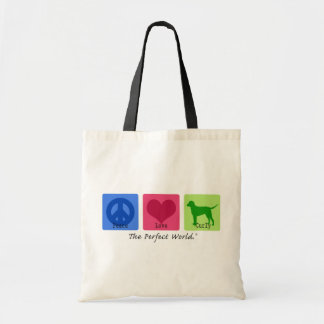 Peace Love Curly Retriever Canvas Bags