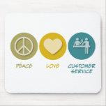 Peace Love Customer Service Mouse Pad