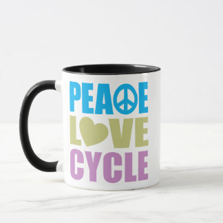 Peace Love Cycle Mug
