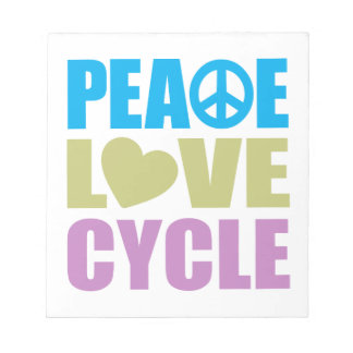 Peace Love Cycle Note Pads