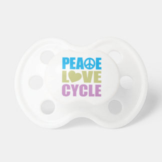 Peace Love Cycle Baby Pacifiers