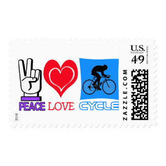 PEACE LOVE CYCLE POSTAGE