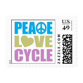 Peace Love Cycle Stamp