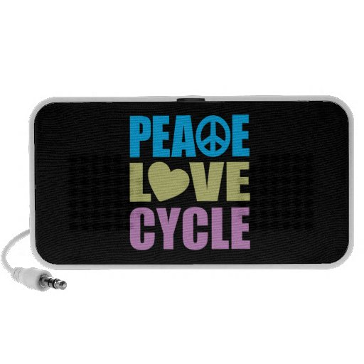 Peace Love Cycle Portable Speakers