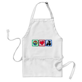 Peace, Love, Cycling Adult Apron
