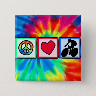 Peace, Love, Cycling Button