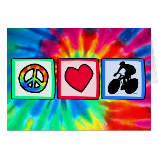 Peace Love Cycling Card
