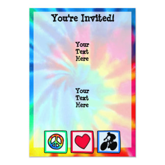 Peace, Love, Cycling Card