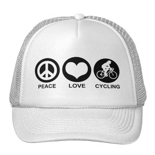 Peace Love Cycling (female) Mesh Hats